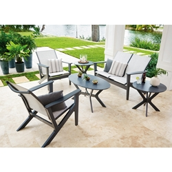 Telescope Casual Wexler MGP Sling Outdoor Patio Set - TC-WEXLER-SET7