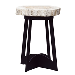 Tommy Bahama Petrified Wood Top Side Table - 3100-203