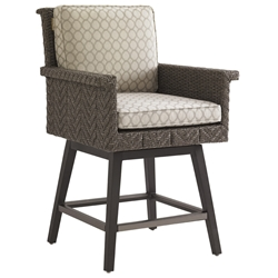 Tommy Bahama Blue Olive Swivel Counter Stool - 3230-17SW