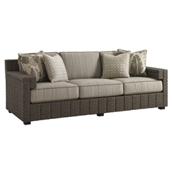 Tommy Bahama Blue Olive Sofa Boxed Edge - 3230-33