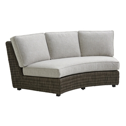 Tommy Bahama Cypress Point Armless Curved Sofa with Box Cushions - 3900-82AB