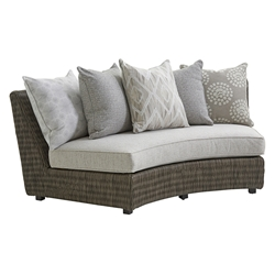 Tommy Bahama Cypress Point Armless Curved Sofa with Scatterback Cushions - 3900-82AS