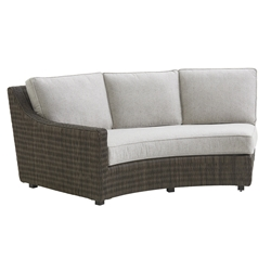 Tommy Bahama Cypress Point LAF Curved Sofa with Boxed Cushions - 3900-82LB
