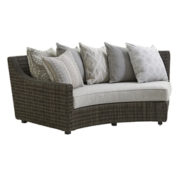 Tommy Bahama Cypress Point LAF Curved Sofa with Scatterback Cushions - 3900-82LS