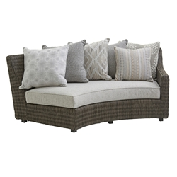 Tommy Bahama Cypress Point RAF Curved Sofa with Scatterback Cushions - 3900-82RS