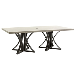 "Tommy Bahama Cypress Point Weatherstone 84"" x 44"" Dining Table - 3900-876"