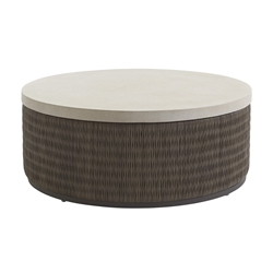 "Tommy Bahama Cypress Point Weatherstone 42.5"" Round Cocktail Table - 3900-943"