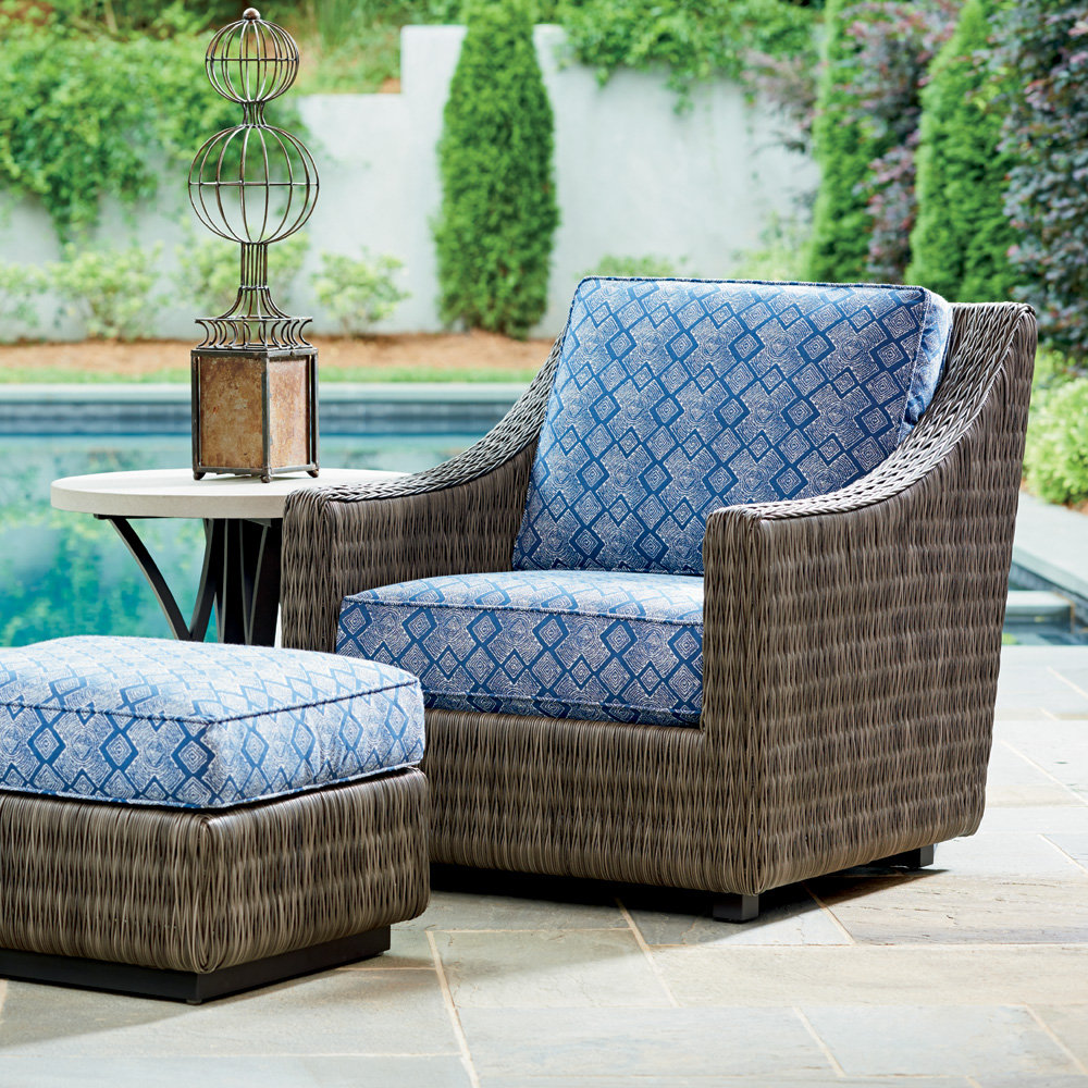 Tommy Bahama Cypress Point Ocean Terrace Lounge Chair with Ottoman and Weatherstone Side Table - TB-CYPRESSPOINT-SET10