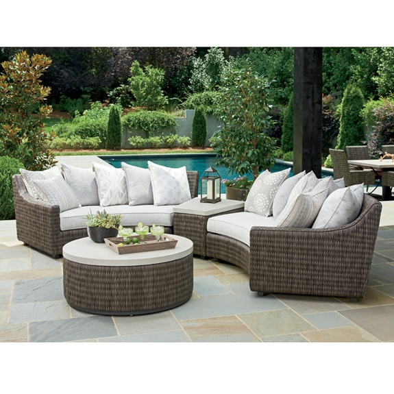 Curved Wicker Outdoor Sectional