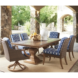 Tommy Bahama Harbor Isle Outdoor Dining Set for 6 - TB-HARBORISLE-SET1