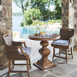 Tommy Bahama Harbor Isle Counter Height 3 Piece Patio Set - TB-HARBORISLE-SET7