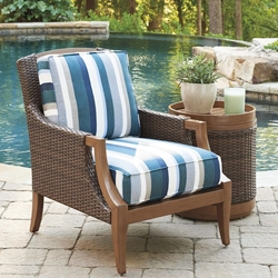Tommy Bahama Harbor Isle Cushion Outdoor Lounge Chair with Accent Table - TB-HARBORISLE-SET9