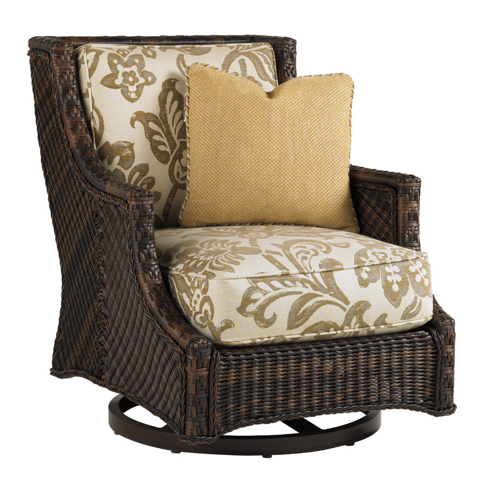 Tommy Bahama Island Estate Wicker Swivel Lounge Chair - 3170-11SW