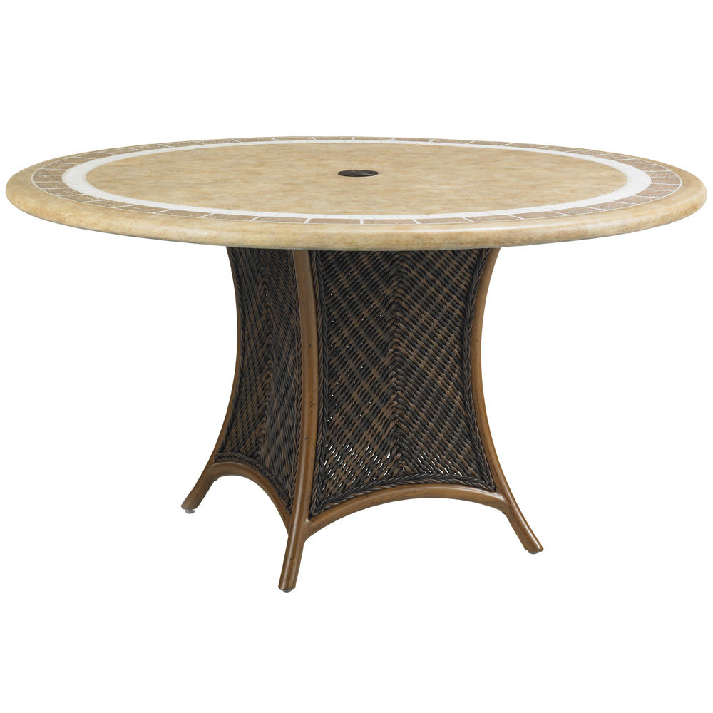 "Tommy Bahama Island Estate 54"" Round Stone Top Dining Table - 3160-870"