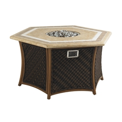 Tommy Bahama Island Estate Gas Fire Pit with Weatherstone Top - 3170-920FG