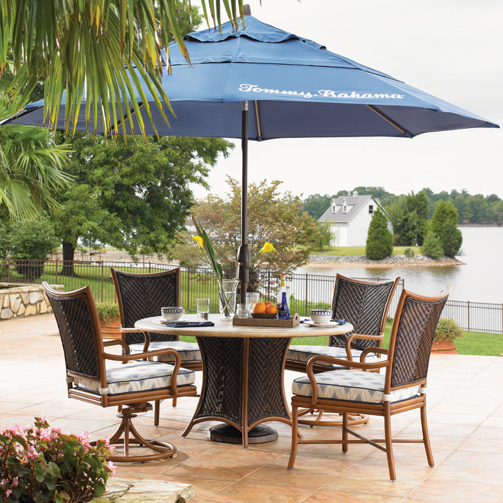 Tommy Bahama Island Estate Lanai Round Patio Dining Set for 4 - TB-ISLANDESTATE-SET2