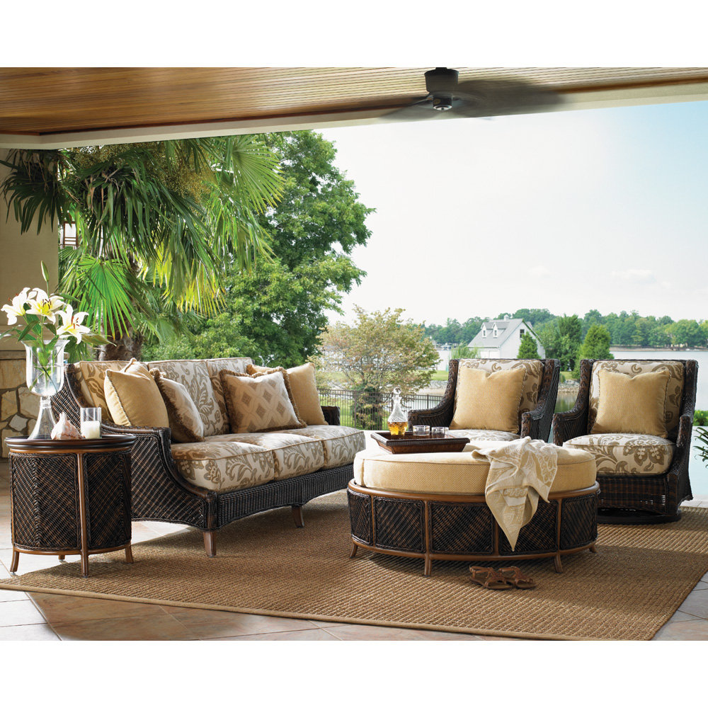 Tommy Bahama Island Estate Lanai Sofa and Swivel Lounge Chair Outdoor Furniture Set - TB-ISLANDESTATE-SET4