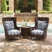 Tommy Bahama Island Estate Lanai Wicker Wing Chair and Side Table Set - TB-ISLANDESTATE-SET7