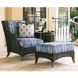 Tommy Bahama Island Estate Lanai Wicker Lounge Chair with Ottoman and Side Table - TB-ISLANDESTATE-SET8