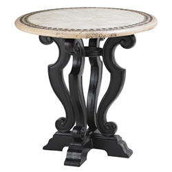 "Tommy Bahama Kingston Sedona 38"" Round Stone Top Bistro Counter Table - 3160-873STC"