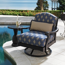 Tommy Bahama Kingston Sedona Swivel Lounge Chair with Pineapple Side Table - TB-KINGSTON-SET11
