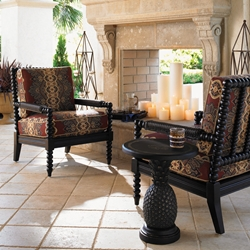 Tommy Bahama Kingston Sedona Accent Chairs with Pineapple Side Table Set - TB-KINGSTON-SET12