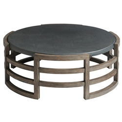 Tommy Bahama La Jolla Round Cocktail Table with Faux Slate Top - 3950-947