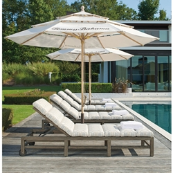 Tommy Bahama La Jolla Chaise Lounge Set with Umbrellas - TB-LAJOLLA-SET8