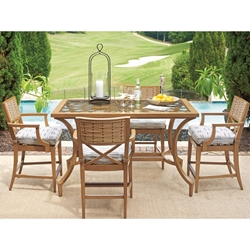 Tommy Bahama Los Altos Valley View Outdoor Counter Height Set for 4 - TB-LOSALTOS-SET3