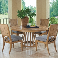 Tommy Bahama Los Altos Valley View Round Patio Dining Set for 4 - TB-LOSALTOS-SET4
