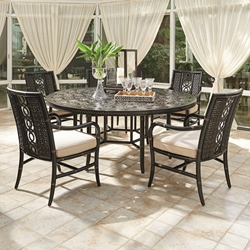 Tommy Bahama Marimba Round Patio Dining Set for 5 - TB-MARIMBA-SET5