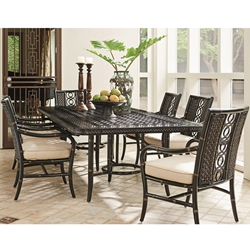 Tommy Bahama Marimba Patio Dining Set with 6 Dining Arm Chairs - TB-MARIMBA-SET7