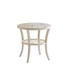 "Tommy Bahama Misty Garden 24"" Round Accent Table with Porcelain Top - 3239-951"
