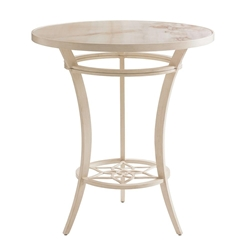"Tommy Bahama Misty Garden 38"" Round Bar Table with Porcelain Top - 3239-873B"