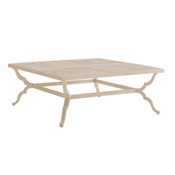 "Tommy Bahama Misty Garden 48"" Square Cocktail Table with Porcelain Top - 3239-947"