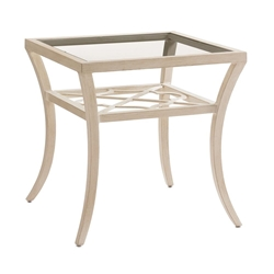 "Tommy Bahama Misty Garden 24"" Square End Table with Glass Top - 3239-955"