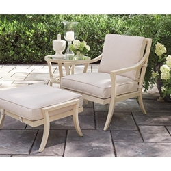 Tommy Bahama Misty Garden Lounge Chair and Ottoman with Accent Table - TB-MISTYGARDEN-SET1