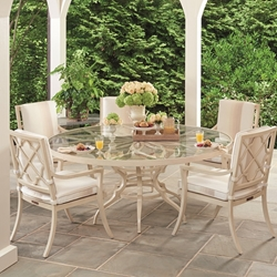 Tommy Bahama Misty Garden Round Patio Dining Set for 5 - TB-MISTYGARDEN-SET8