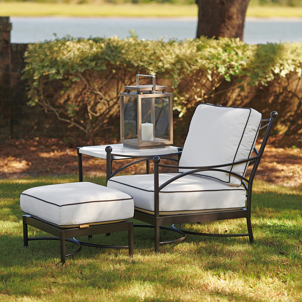 Tommy Bahama Pavlova Lounge Chair with Ottoman and Side Table Outdoor Set - TB-PAVLOVA-SET11