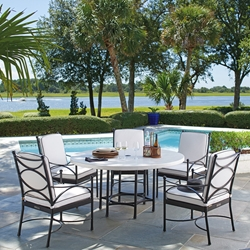 Outdoor Dining Sets In Aluminum Wicker Wrought Iron