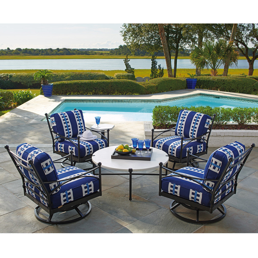 Tommy Bahama Pavlova Swivel Lounge Chair Patio Set - TB-PAVLOVA-SET7