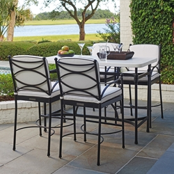 Tommy Bahama Pavlova Outdoor Bistro Bar Table Set - TB-PAVLOVA-SET8