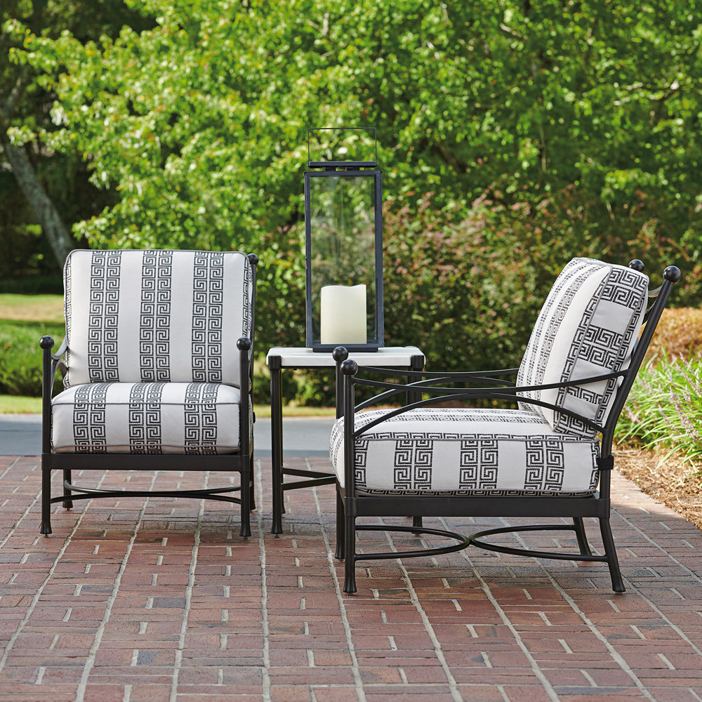 Tommy Bahama Pavlova Transitional Outdoor Lounge Chair and Side Table Set - TB-PAVLOVA-SET9