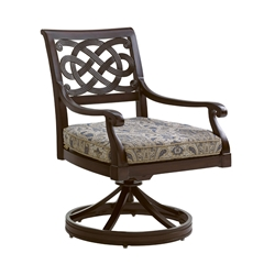 Tommy Bahama Black Sands Swivel Rocker Dining Chair - 3235-13SR
