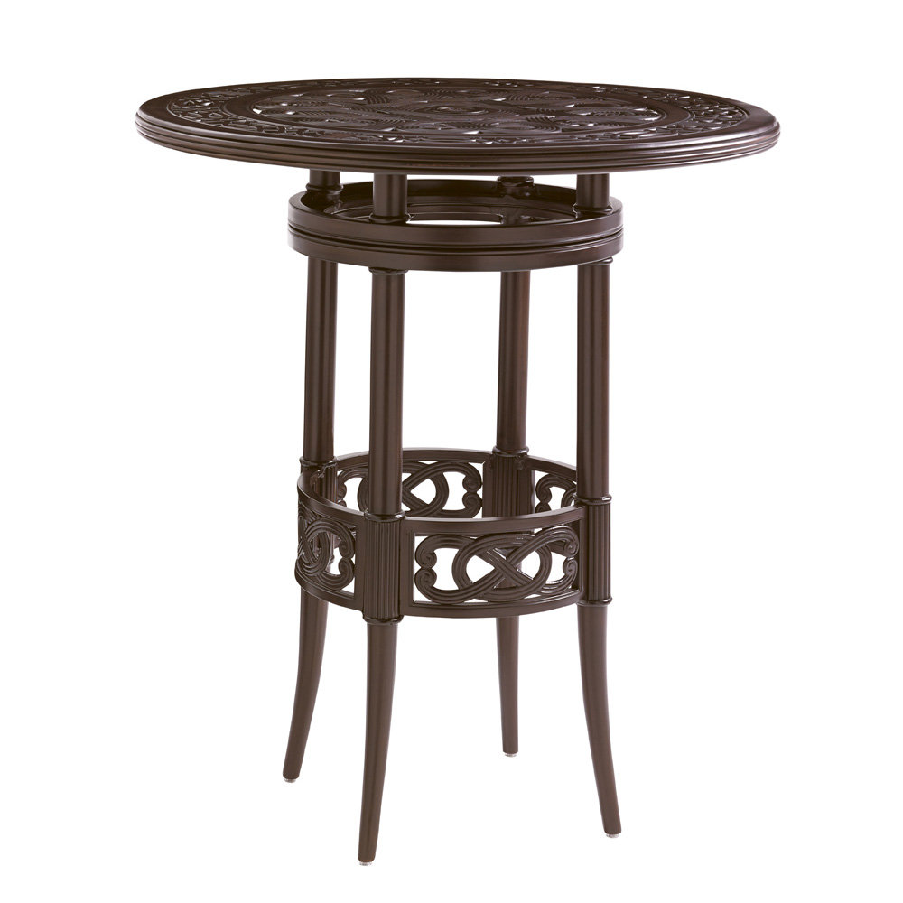 "Tommy Bahama Black Sands 38"" Round Bistro Bar Table - 3235-873B"