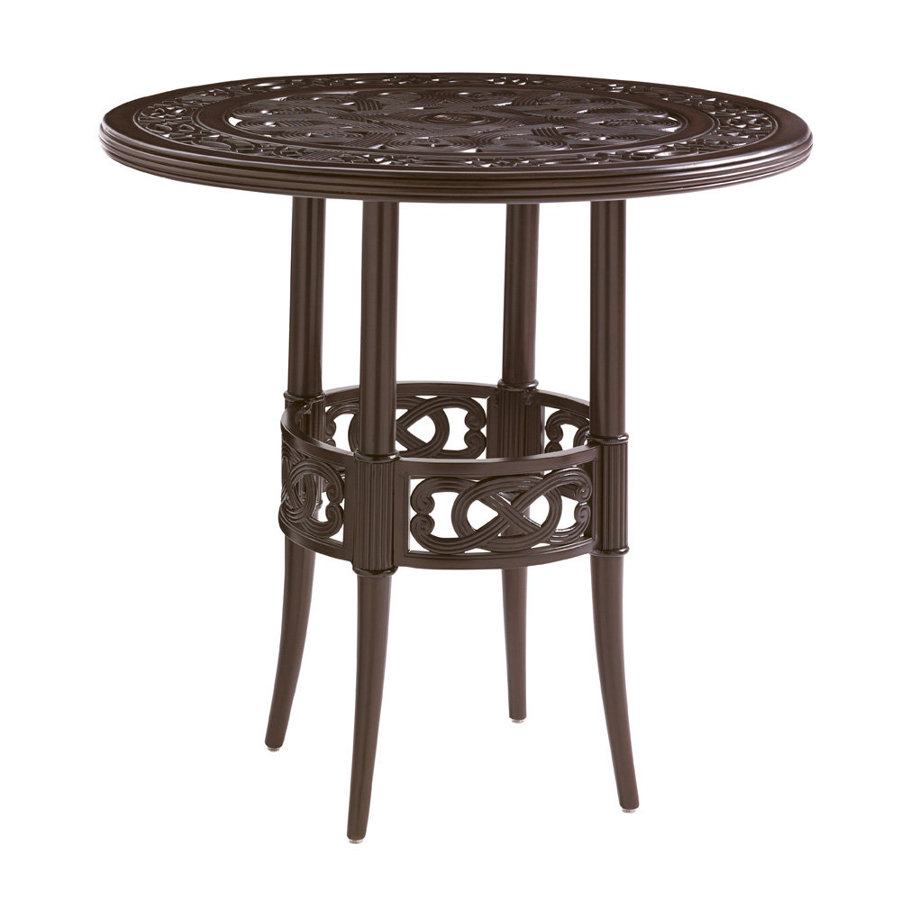 "Tommy Bahama Black Sands 38"" Round Bistro Counter Table - 3235-873C"