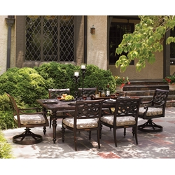 Tommy Bahama Black Sands Cast Aluminum Dining Set for 6 - TB-BLACKSANDS-SET1