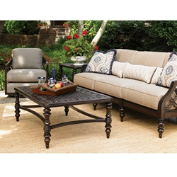 Tommy Bahama Black Sands Sofa and Swivel Tub Chair Outdoor Furniture Set - TB-BLACKSANDS-SET11