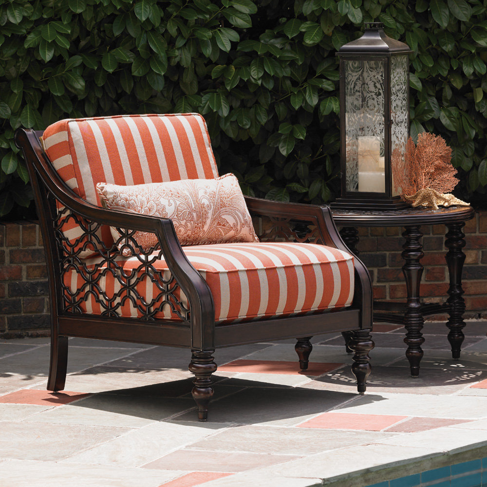 Tommy Bahama Black Sands Cast Aluminum Outdoor Lounge Chair and Side Table Set - TB-BLACKSANDS-SET12