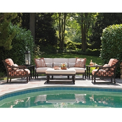 Tommy Bahama Black Sands Outdoor Sofa and Lounge Chair Set - TB-BLACKSANDS-SET5